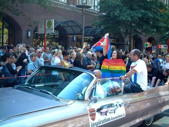 mariela castro en desfile gay de hamburgo