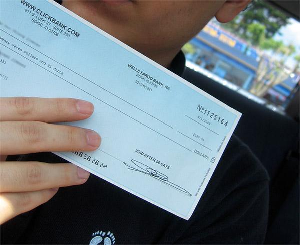 Mi primer cheque